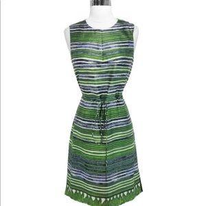Hugo Boss Green Silk Blend Sleeveless Dress, size2